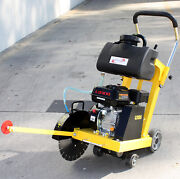 14 6.5hp Gas Walk Behind Cut-off Saw W/ Blade And Tank For Concrete Cement Floor
