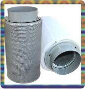 6 Hydroponic Inline Exhaust Air Carbon Filter Scrubber Grow System Supply