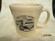 Fiesta Ware Ivory Exclusive Welcome Home 99 Weirton Wv Pandw Bus Tapered Mug