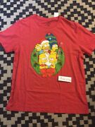 The Simpsons Family Christmas Wreath Vintage Style T-shirt Menandrsquos 2xl Homer Bart