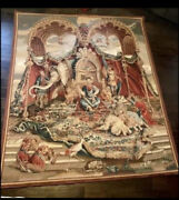 92x76 Handwoven Aubusson French Louis Xiv Beauvais Chinoiserie Tapestry