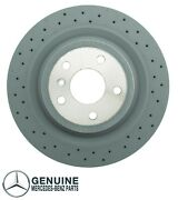 Genuine Vented And Cross Drilled Rear Brake Disc For Mercedes W166 Ml350 Ml550