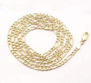 30 3mm Solid Royal Figaro Chain Necklace Genuine Real 14k Yellow Gold