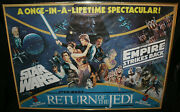 Star Wars British Quad Poster Excellent All 3 Movies