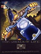 Markus Pierson Wheels Of Life Hand Signed Limited Ed Serigraph Art Motorcycle