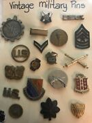 Lot Of Us Military Medals Pins Collar Lapel Pins Insignia Army Group 3