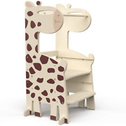 Pp Opount Kids Step Stool Toddler Kitchen Stool Kids Standing Tower Wooden Child