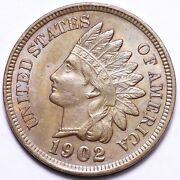 1902 Indian Head Small Cent Penny Choice Unc Free Shipping E183 Ank