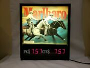 Vintage Marlboro Cowboy Light Up Cigarette Sign Store Display Collectible 23