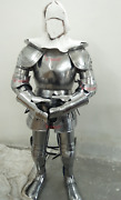 Medieval Armour Suit Warrior Complete Set For Larp Game Reenactments