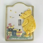 Classic Winnie The Pooh Ceramic Switch Plate Light Cover