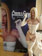Marvel Comics Sideshow Emma Frost White Queen Comiquette Statue X-men