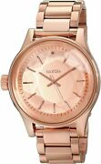 Nixon Unisex Facet Left Hand 42mm Rose Gold Dial Stainless Steel Watch