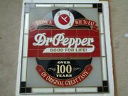 Dr Pepper Glass Sign 10 2 4 Over 100 Years Vintage - Original Soda 16x18 In Rare