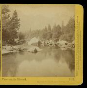 1860's Stereoview Carleton Watkins View On The Merced River, Yosemite Valley