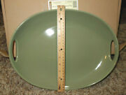Longaberger Swoop Contour Tray Woven Traditions Sage Green Pottery 3182760