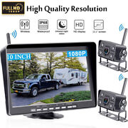 Ir Backup Camera System With 10.1and039and039 Monitor Dvr Truck Trailer Quad Split Screens