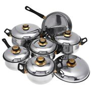 6pcs Cookware Set Kitchen Stainless Steel Cooking Pot And Pan Sets Frying Pan