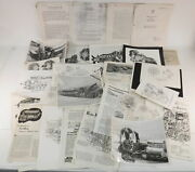 Lot Of Vtg Wwii Era Photos Manuals On Aircraft Engines Rolls Royce Merlin Wasp