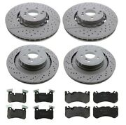Zimmermann Front And Rear Disc Brake Rotors And Pads Kit For Mercedes W218 W212
