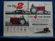 1957 Massey-harris 2 Pg Tractor Ad - 4-plow 444 Tractor And 3-plow 333 Tractor