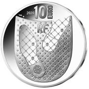 Frankreich 10 Euro 2020 French Excellence 125 Jahre Berluti - 2220 Gr Silber Pp