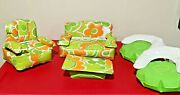 Vintage 1970s Barbie Blow Up Furniture- Couch, Table, Three Chairs