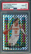 2019 Panini Mosaic Stained Glass 4 Trae Young Psa 10