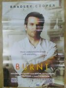 Burnt 2015 Bradley Double Side Ds Rare Movie Poster India Promo Orig Eng