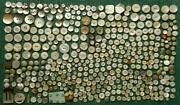 724 Piece Lot Vintage Mother Of Pearl Buttons 1/4 To 1 1/8 Very Fine Condition