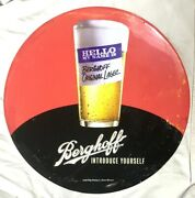 Vintage Berghoff Beer Bar Sign From The Introduce Yourself Campaign Rare