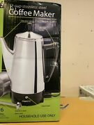 Presto 12 Cup Stainless Steel Percolator Coffee Maker 02811