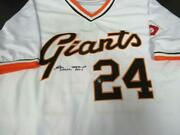 Willie Mays Signed Mitchell And Ness Giants Jersey Autograph Auto Say Hey