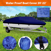 Marine Blue 20and039 - 22and039 Boat Cover For Trailerable Fishing Dinghy Motorboat Bbt3n