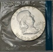 1963 50c Silver Franklin Half Dollar-ms-sealed-free Usa Shipping Fifty Cent