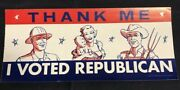Thank Me I Voted Republican Political Vintage Window Sticker Decal 8x3.5jh784