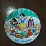 Tokyo Disneyland Snow White And The Seven Dwarfs W / Witch Evil Queen Plate