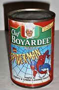 Spiderman- Chef Boyardee Limited Edition Pasta In Tomato And Cheese Flav Sauce Can