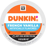 Dunkin' Donuts Coffee, French Vanilla Flavored Coffee, K Cup Pods For Keurig Cof