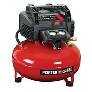 Porter Cable Portable Pancake Air Compressor Single Stage Oil Free 6 Gal 150 Psi