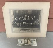 Antique 1911 Cabinet Photo Of Football Team With African American Black Player