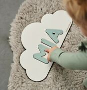 Cloud Name Puzzle Baby Gifts Personalized Puzzle Pastel Room Decor