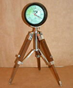 Antique 5 Wooden Table Clock With 18 Tripod Stand Wooden Clock For Home Decor
