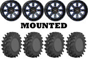 Kit 4 Sti Outback Max Tires 32x10-14 On System 3 St-4 Blue Wheels Ter