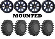 Kit 4 Sti Outback Max Tires 32x10-14 On System 3 St-4 Blue Wheels Pol