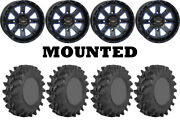 Kit 4 Sti Outback Max Tires 32x10-14 On System 3 St-4 Blue Wheels Can