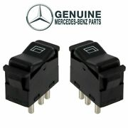 Genuine Pair Set Of Rear Left And Right Window Switchs For Mercedes W123 W201 W126