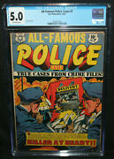 All-famous Police Cases 7 - L.b. Cole Cover - Cgc Grade 5.0 - 1952