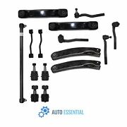 15x Front Upper Lower Control Arms Tie Rods Kit For Jeep Grand Cherokee 99-04
