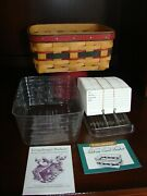 Longaberger 1996 Fathers Day Address Card Basket And Protectors And Rolodex Cards